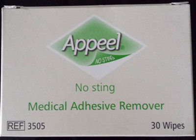 Adhesive remover wipes - helps dissolve the glue and aids stoma bag removal